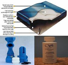 KING/CAL KG Boyd Fiber 1000-60% Waveless Lumbar Waterbed Mattress-FREE Kit/Cond