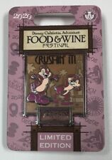 2020 Dca Food & Wine Festival Chip and Dale Le 2000 Limited Edition Disney Pin