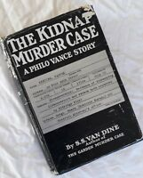 The Kidnap Murder Case ~ S.S. Van Dine ~ 1936 1st Colonial ed UK~