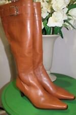 Coach Adrianna Brown Leather Knee High Buckle Riding Boot SIZE 8.5 (BOTA500)