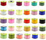 "2"" FLORIST POLY TEAR SATIN RIBBON 50mm Flower Bouquets Gifts Hamper Wedding Cars"