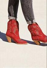 Jeffrey Campbell X Free People West Side Western Boot Sz 7 Women red