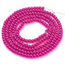 4mm Pink Lavender Glass Pearl Plain Round Beads UK Strand 215