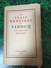 Les vrais mémoires de vidocq présentés par Jean Savant - Editions Corréa