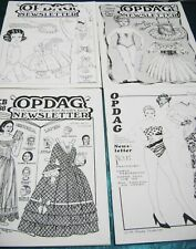 Vtg Paper Dolls Opdag Newsletters 1987 1988 w/ 2 Convention Issues Vanderpool!