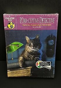 The Purr-Ceptive Detective Golden Mystery Puzzle Story   30 Years Old Sealed Box
