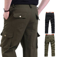 Men Tactical Pants Cargo Casual Combat Military Work Cotton Male Trousers TP