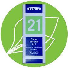 Schüßler Salz Nr.21 Zincum chloratum D12 Globuli PZN 09490738