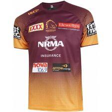 Brisbane Broncos NRL Mens Players Training Tee Shirt 2019 ISC BNWTS