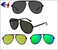 💯 Lunettes de soleil monture GG 1076 homme femme miroir top vintage aviateur 💯