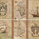 VOYAGE TO DISCOVERY I (36x18) and II (36x18) SET by AMORI MAPS 2PC CANVAS