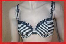 IKKS 90 B 34 B   Soutien gorge bleu blanc   lingerie soutif  bra BH reggiseno
