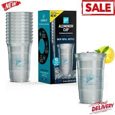 Ball Aluminum Cup, The Ultimate 100% Recyclable Cold-Drink Cup 10 Cups Per Pack