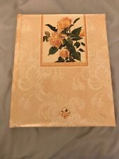 Classic Hallmark Wedding Guest Bk Peach n Embossed Roses with Photo Album pages