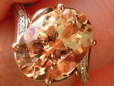NEW 4.7ct Cor-de-Rosa Oval-Cut Morganite Swirl Ring -10K Rose Gold- Sz 7.25