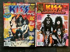 2 DIFFERENT KISS MAGAZINES PSYCHO CIRCUS & ROCKS THE WORLD  ITEM #3752