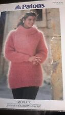 """NEW PATONS C 4786 KNITTING PATTERN FOR MOHAIR SWEATER SIZES 30""""-40"""""""