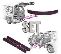 Mitsubishi ASX Ladekantenschutz + Einstiegsleisten SET in 3D CARBON SCHWARZ