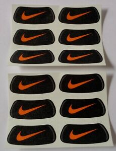 Nike EyeBlack Stickers 6 Pairs Black & Orange Swoosh
