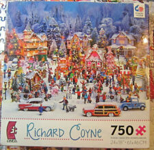 Richard Coyne Christmas In The Park 1000 Piece Jigsaw Puzzle Complete