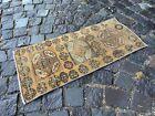 Turkish  natural dyed rug, %100 wool rug, Vintage rug, Carpet | 1,2 x 2,7 ft