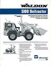 Equipment Brochure - Waldon - 5100 Unitractor - Wheel Loader - c1988 (E3359)