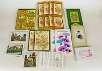 VTG Lot Bridge Tally Cards & score cards 55 Piece Bridge tally floral set