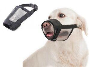 Adjustable Stop Barking Biting Chewing Soft Dog Muzzle Small Medium Large XL UK