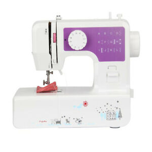Electric Sewing Machine Mini 12 Stitches 2 Speeds Foot Pedal LED Portable UK