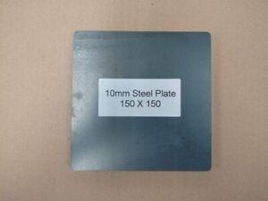 10mm Mild Steel Plate Laser Cut with Radius Corners 300x200 150x150 200x200