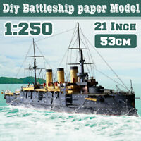 "1:250 Scale Battleship DIY Paper Model 53cm=21"" Long Ship Military Warship"