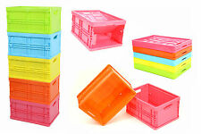 Mini Lagerbox Klappbox 4,5L Farben Faltbox Faltkiste Spielzeug Aufbewahrung