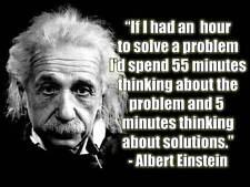 Albert Einstein Solve Problems Quote Metal Sign