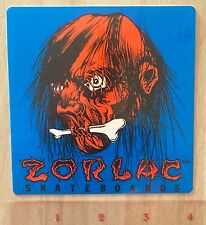 Zorlac Shrunken Head Pushead Skateboard Sticker 80'S Shut Up And Skate Texas