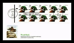 DR JIM STAMPS WOOD DUCK BOOKLET FDC FLEETWOOD CACHET US COVER