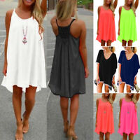 Women Summer Chiffon Beach Mini Swim Dress Swimwear Bikini Cover Up Sundress
