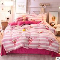 3D Pink Panther ZHUB2726 Bed Pillowcases Quilt Duvet Cover Queen King Zoe