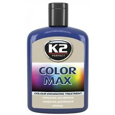BLUE COLOUR MAX WAX  K2 CAR Polish RESTORER Lustre SHINE with Carnauba 200ml