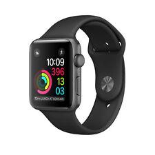 Brand new Apple Watch Series 1 38mm Aluminum Case Black Sport Band - (MP022LL/A)