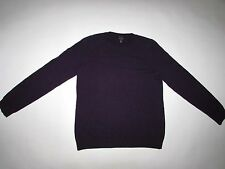Talbots Women's 100% Cashmere Crewneck Sweater Large Purple Pullover L LS