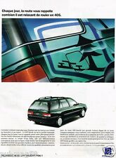 Publicité advertising 1993 Peugeot 405 Break
