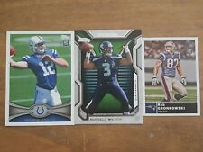ROB GRONKOWSKI RUSSELL WILSON ANDREW LUCK ROOKIE CARD LOT