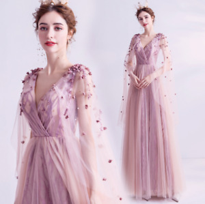 Luxurious V Neck Pink Petals Cape Empire Waist Gown Homecoming Party Dresses