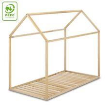 Cama Infantil Tipo Montessori, Casita Madera Natural para niño y niña,