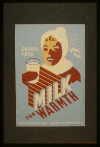 Milk,For Warmth Energy Food,Cleveland Division of Health,Woman,Winter,Ohio 1333