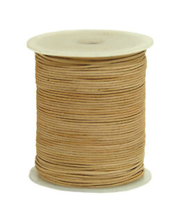 50m Lederband Farbe: Natur 1,5 mm stark Spule (0,36 €/1m) 50 Meter auf Rolle