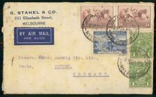 Mayfairstamps Australia Ad 1928 Cover Melbourne Stahel & Company wwh77281
