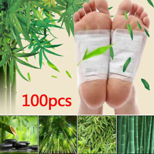 100X Fusspflaster Entgiftung Bambus Foot Pads Vitalpflaster Entschlackung Detox*