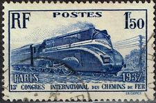 France Railroad Train Locomotive stamp 1937