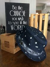 Hard Rock Hotel Hollywood Denim Bleach Washed Spotted Wash Fedora Hat PreOwned